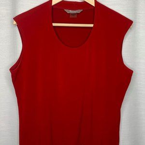 TAN JAY RED WOMENS CUT OFF PETITES TOP SIZE MEDIUM